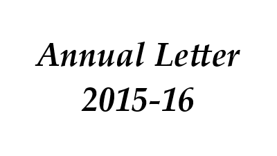 Annual Letter 2015-16