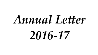 Annual Letter 2016-17