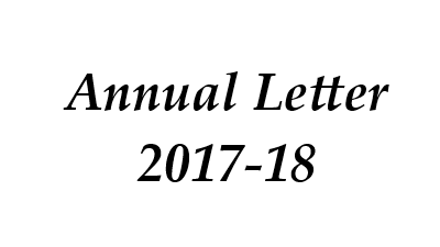 Annual Letter 2017-18