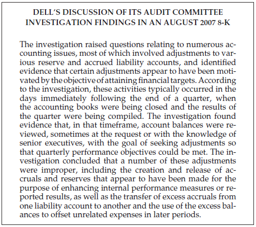 Dell Audit Committee Investigation Findings