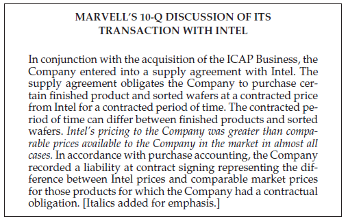 Marvell's transaction with Intel