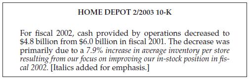 Home Depot 10-K filing Fiscal 2002