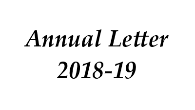 Annual Letter 2018-19
